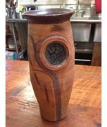 """Vintage 1977 Brutalist Modern Studio Art Pottery Stoneware 17"""" Tall Floo... - $479.99"""