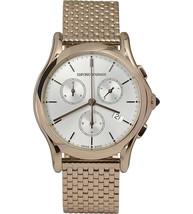 Emporio Armani ARS6009 Classic Chronograph Rose Gold Tone Watch SWISS - $447.99