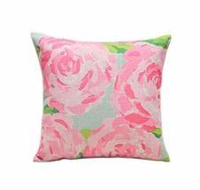 Beautiful Pink Peony Pattern Home Furnishing Pillow / Cushion