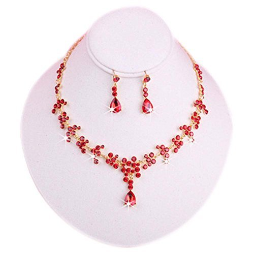 Wedding Necklace and Earrings Jewelry Set Beautiful Dress Accessories for Bride