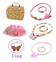 PinkSheep Lovely Girls Butterfly Jewelry Box, Butterfly-shaped Necklace ... - £11.96 GBP