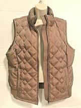 Ann Taylor Loft Large Goose Down Sleeveless Vest Zip Side Pockets Irides... - $19.60