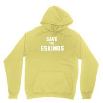 Save The Eskimos Shirt Support For Eskimos Football Name Unisex Yellow Hoodie Sw - $24.95+