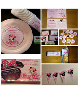 Minnie Mouse baby shower supplies set of 12 - $89.09