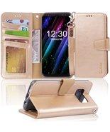 Galaxy s8 Case, Arae [Wrist Strap] Flip Folio [Kickstand Feature] PU Lea... - $12.99+
