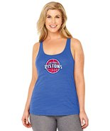 NBA Detroit Pistons Women's Curvy Tank Top, Royal Blue, 3XL - $19.99