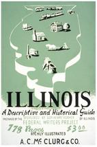 History of Illinois Art POSTER.Home wall.Vintage Room green Decor.346i - $10.89+