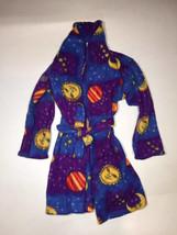 Kids Blue Space Planet Fleece Robe Baby Winter Warm Gift Children - $34.99
