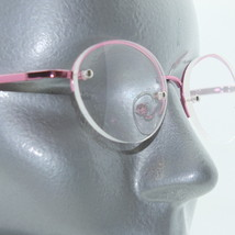 Reading Glasses Metal Pink Top Frame Rhinestone Trim Sparkle Bling +2.00 Lens - $16.00