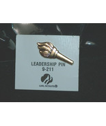 NEW GIRL SCOUTS Gold Tone Leadership 9-211 Pin for Sash Journey Vest NEW - $9.88
