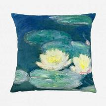 Reqo Waterlilies Throw Pillow Cover Decorative Cases Cushion Covers Text... - $14.31