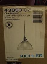 Kichler Lighting 43853OZ Avery Light Fixture Mini Pendant Olde Bronze Clear Glas - $95.79