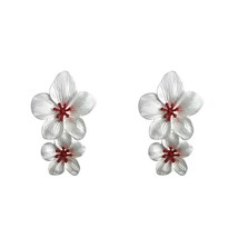Romantic Baroque Flower Stud Earrings High Quality Dumb Gold Zinc Alloy ... - $8.22