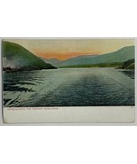 Old Undivided Postcard View Approaching the Hudson Highlands River Mount... - $12.69