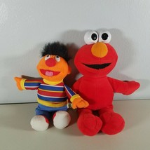 "Sesame Street Elmo & Bert Plush Stuffed Animals 10 - 11"" Tall Lot of 2 - $14.99"