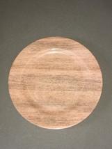 "Melamine Wood Grain Dinner Plates 10.5"" Set of 6 Plates Shabby Chic Beac... - $799,34 MXN"