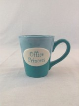 Ganz Light Dark Turquoise Green Office Princess Ceramic Coffee Cup Mug - $13.09