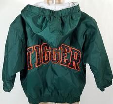 Disneyland Youth Tigger Zip Jacket Hoodie XXS Coat Lined Disney Green Or... - $27.85