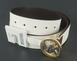 $58 Michael Kors Womens Signature Reversible Circle MK Logo Belt Genuine... - $49.49