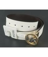 $58 Michael Kors Womens Signature Reversible Circle MK Logo Belt Genuine... - $49.49