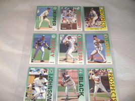 9 Fleer 1992 Baseball Cards mint condition  - $4.79