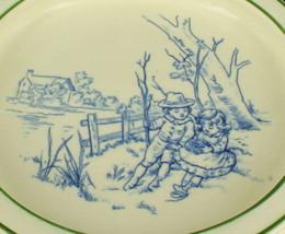 Raro Antico Royal Doulton Flusso Blu Bambino Piastra Piatto Ciotola Ragazzo - $71.99