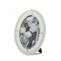 "Rhinestones Oval Picture Frame Holds 4"" x 6"" Photo Easel on Back - $25.69"