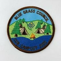 """BSA Boy Scout Patch Blue Grass Council Cub Campout 2000 NOS 3.5"""" x 2.5""""  - $9.50"""
