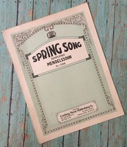 Vtg Spring Song Simplified Medelssohn No. 2158 Sheet Music Collectible C... - $8.90