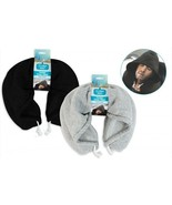 Hooded Travel Pillow Hoody Travel Neck Pillow Holiday Comfort Adult Neck... - $12.64