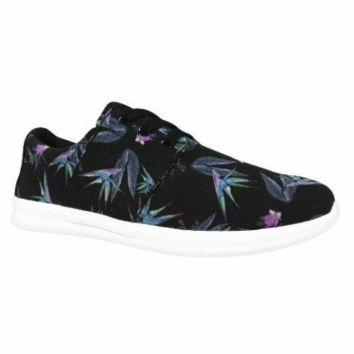 Brand New Mossimo Women's Black Floral Litzy Sneakers Casual Shoes