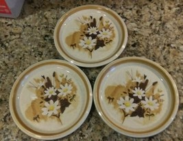 "Lot of 3 MIKASA Stone Manor Daisy May pattern 7.5"" Dessert- SALAD PLATES (F5822) - $10.88"