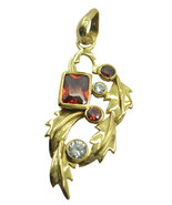 gorgeous Multi Gold Plated Multi Pendant Natural jaipur US gift - $14.84