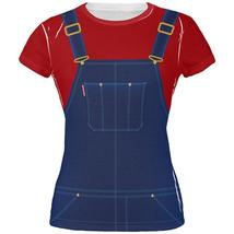Halloween Overalls Red T-Shirt Costume All Over Juniors T Shirt - $26.95+