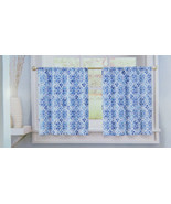 Curtains Colordrift Gallow One Lined Tier Pair 60 in W x 24 in L Multi - $17.81