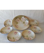 RS Germany Prussia Master Berry Bowl 6 Small Berry Dessert Bowls White R... - $67.50