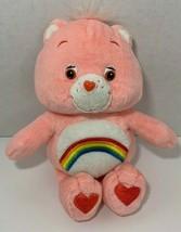 "Care Bears Cheer Bear Plush pink rainbow teddy stuffed animal 9"" - $7.12"