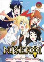 Nisekoi Season 1+2 ( TV 1-32 End + 3 OVA ) English SUB