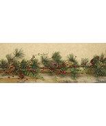 Red Berry Pine w/bells Garland - 4ft Mantel Door Christmas Decor  - $49.99