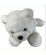 "AA Plush Baby Polar Bear 7"" Cream Plush Lying Soft Toy Black Nose Stuffe... - $12.87"