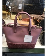 New Kate Spade Ina Greta Court small pink glitter Satchel Crossbody Bag - $85.00