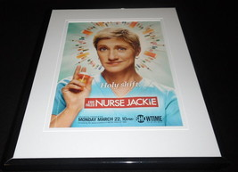Nurse Jackie 2010 Showtime Framed 11x14 ORIGINAL Advertisement Edie Falco - $32.36