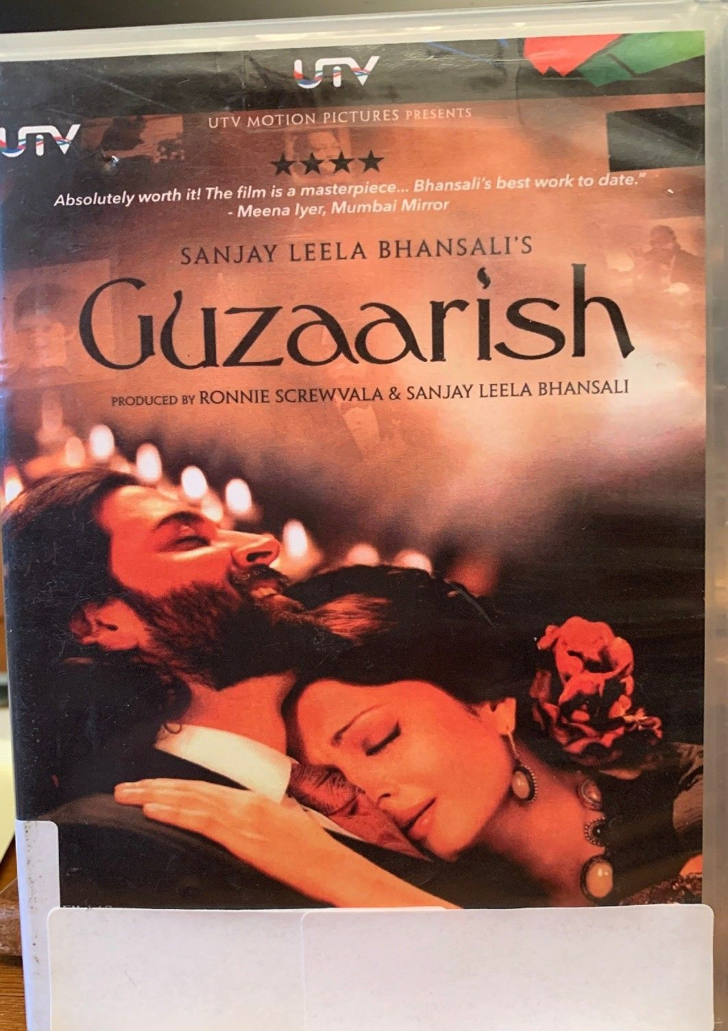 Primary image for Guzaarish DVD UTV Ex-library ntsc