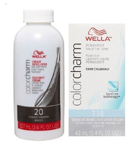 Wella Color Charm Permanent Liquid Hair Toner Bundle (T18+Developer Vol 20) - $36.35