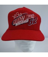 Vintage Mark McGwire Home Run Record 62 Red Snapback Baseball Cap Hat New - $26.03