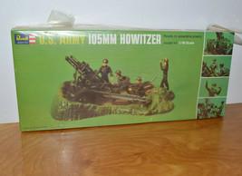 VINTAGE REVELL U.S. ARMY 105MM HOWITZER MODEL KIT NEW SEALED 1971 1/40 S... - $41.90