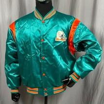 Delfini De Miami NFL Stadio Omaggio Raso Uomo XL Varsity Giacca Vintage USA - $114.33