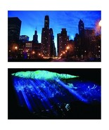 4 x Lot GloFish Reversible Aquarium Bkgrnd 12x20in Cityscape & Underwate... - $16.15