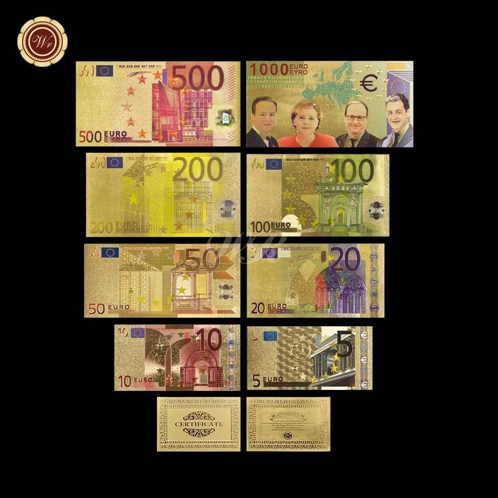 Souvenir Collectible Value Gold Foil €500 Euro Banknote Paper Money Supply