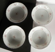 Mikasa Versailles Coupe Soup Bowl (S) Lot Of 4 Pink Roses Retired - $20.79